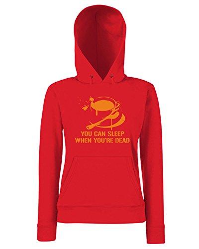 T-Shirtshock - Sweats a capuche Femme FUN1030 coffee sleep ringer t Rouge