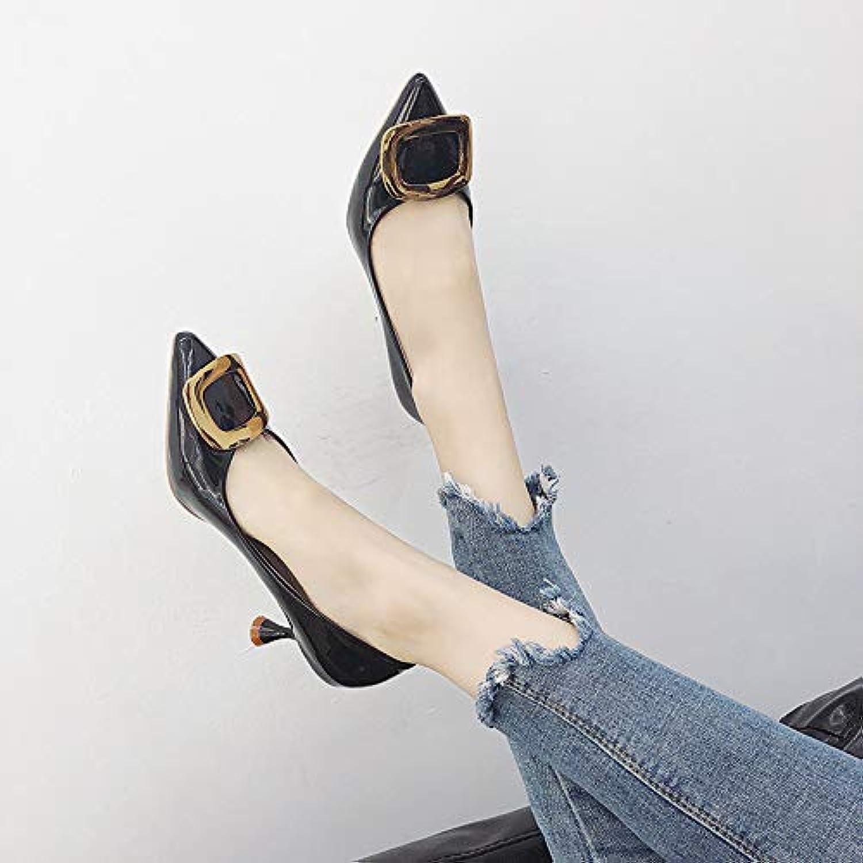 Jqdyl Scarpe con tacco alto Scarpe con tacco alto alto alto di nuova moda Scarpe da donna con ampia apertura a punta quadrata...   Moda moderna ed elegante    Uomo/Donna Scarpa  9889ba