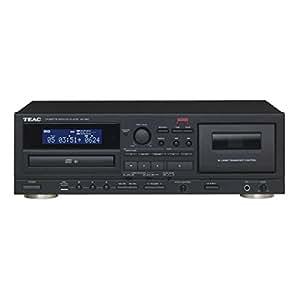 Teac CD und Kassetten Player, AD-850-B, Tapedeck, CD Musik-Spieler, mit Aufnahmefunktion für USB-Speicher, Karaoke-Funktion, Mikrofoneingang, CD-R/RW und MP3-Wiedergabe, Schwarz, 1500418