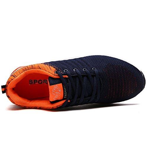 NEOKER Uomo Donna Scarpe Da Sportive Running Basse Sneakers Nero Blu Rosa 36-46 Arancione