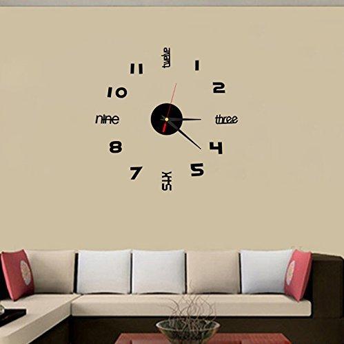 GuoEY Acryl Crystal Clock Digital Clock Englisch kleine Stereoanlage