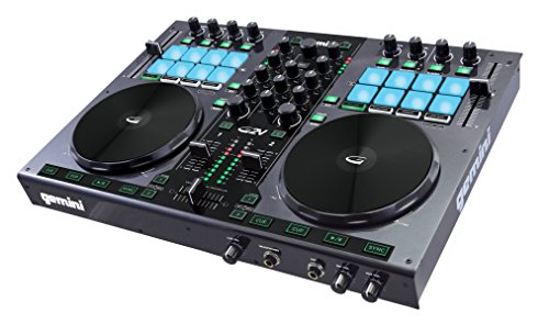 Gemini G2V - DJ Controller mit Virtual DJ LE - mit integriertem 24 Bit Audio-Interface