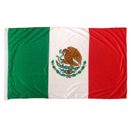 Mexiko-Flagge 3ft x 5ft Superknit Polyester WM Supporters Flagge