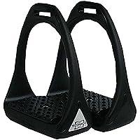 Kunststoffsteigbügel Reflex mit flexibler breiter Trittfläche schwarz/schwarz   Compositi Steigbügel aus Kunststoff