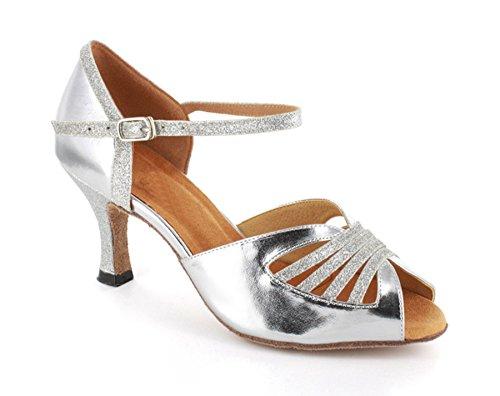 Minitoo–Fascia da donna Party sera matrimonio sandali scarpe da ballo Silver