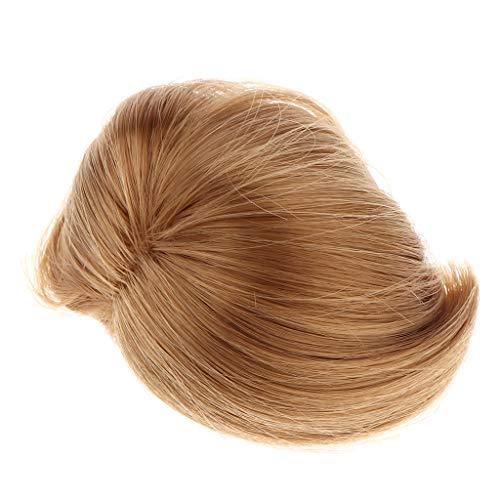 non-brand Homyl Fashion Puppe Kurze Perücke Bob Frisur mit Pony Perücke Haarteil Puppenzubehör für 1/8 BJD weibliche Puppen, Farben auswählbar - Braun