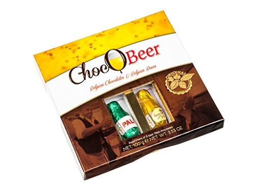 ChocOBeer - Boite cadeau - petites bouteilles en chocolat à la bière belge - 100 g