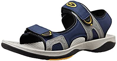 Fila Men's Jacopo Navy and Grey and Yellow  Sandals and Floaters -11 UK/India (45 EU)