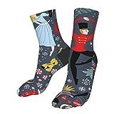 gjhj Notenkraker sokken koud weer cadeau, zachte warme dikke gebreide gezellige winter casual sokken voor mannen vrouwen