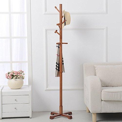LYM Stehender Huthänger Mantel Hut Rack Holz Stand, Hall Baum mit 8 Haken Display Stand Einfache Montage von Regalen ( Farbe : A , größe : 178*50cm )