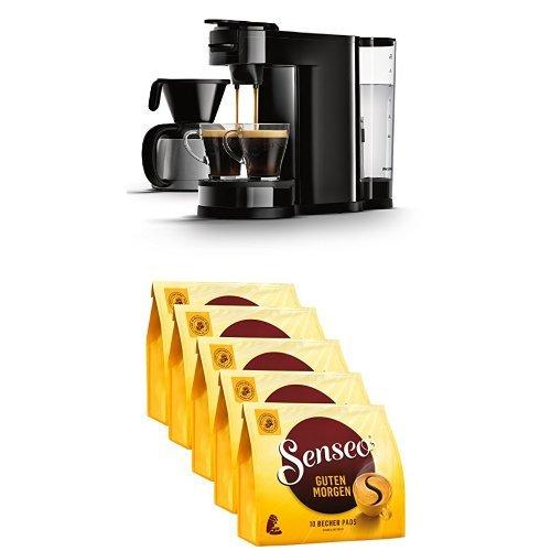 Senseo Guten Morgen XL, 10 Kaffee Pads, 5er Pack (5 x 125 g) mit Senseo HD7892/60 Switch 2-in-1...