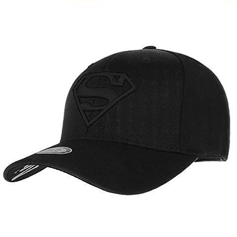 WITHMOONS Superman VS Batman Shield Embroidery Baseball Cap AC3260 (TwoBlack, M)