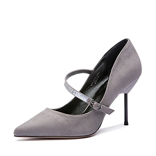 Automne mode gommage léger boucle sparkle chaussures de Dame/Chaussures de haut talon stiletto B