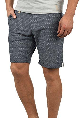 Muster 100% Baumwolle (Blend Sergio Herren Chino Shorts Bermuda Kurze Hose Mit Rauten-Muster Aus 100% Baumwolle Regular Fit, Größe:XL, Farbe:Navy (70230))
