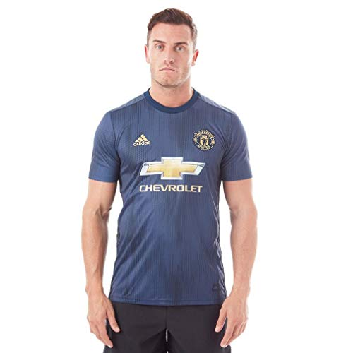 adidas Camiseta Manchester United FC Tercera Equipación 2018-2019 Collegiate navy-Night navy-Matte gold Talla S