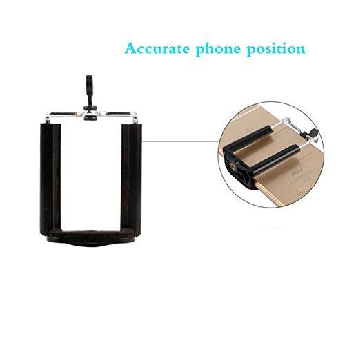 Webat Universal Handy Stativhalterung Adapter Smartphone Halter Halterung Clip für iPhone 7 7plus 6 6s 6plus 5 5s, Samsung, Huawei P9 Ehre 8 und mehr Telefone, Selfie Einbeinstativ Verstellbare Klemme