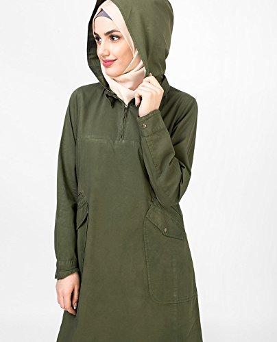 Verde oliva Jilbab Leaf Green