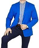 bonprix Herren Sakko untersetzt Comfort Fit Baumwoll Übergröße Blazer Zweiknopf Jackett Anzug Langgröße bequem Spezialgröße, Größe 102, lichtblau