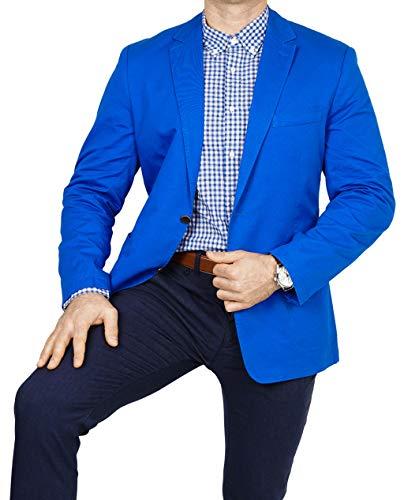 bonprix Herren Sakko untersetzt Comfort Fit Baumwoll Übergröße Blazer  Zweiknopf Jackett Anzug Langgröße bequem Spezialgröße, Größe 50, lichtblau f988be28bd