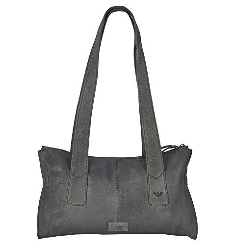 VOi Damen RV-Tasche 21202 aus hochwertigen Leder in Schwarz