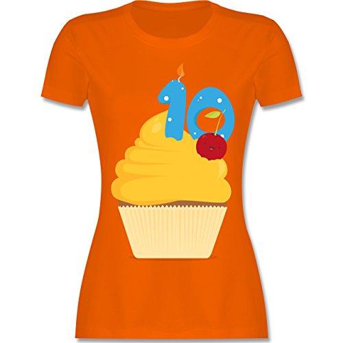 Geburtstag - 10. Geburtstag Cupcake - tailliertes Premium T-Shirt mit  Rundhalsausschnitt für Damen