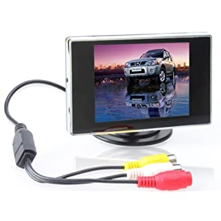 BW 3.5 inch TFT LCD Car Monitor Digital Car Rearview Monitor,Car Parking Monitor for Car/Automobile and Vehicle Backup Cameras