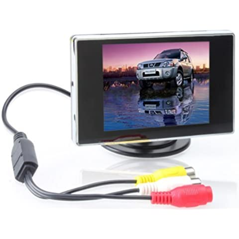 BW® - Monitor quadrato digitale da auto 3,5'' TFT