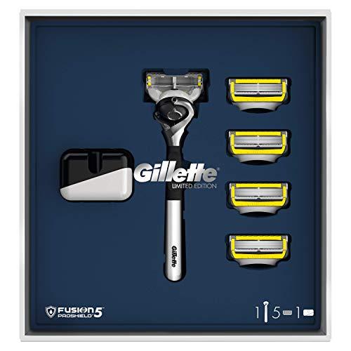 Gillette Fusion5 Proshield Rasoio da Uomo, 1 Manico e 5 Lamette di Ricarica, Edizione LimitaTa, Idea Regalo Festa del Papà