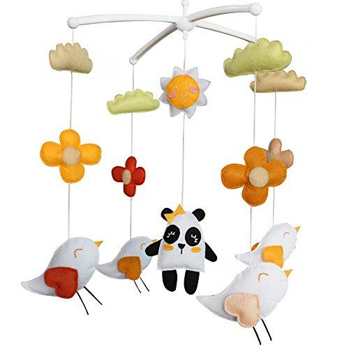 - Baby-Traum Musical Mobile, Baby-Geschenk, bunter, Panda und Vögel