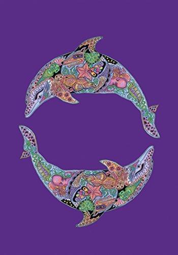 Toland Home Garten Tier Spirituosen Delfin 28x101,6 cm Deko Indianer Spirituelle Ozean Schwimmhaus Flagge