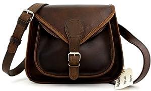 LA BESACE indus, la bolsa de tendencia, pequeña bolsa de piel para la ciudad, color marrón oscuro PAUL MARIUS Vintage & Retro de BagCentre