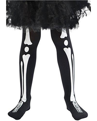 Halloween Kinderstrumpfhose mit Skelett Print