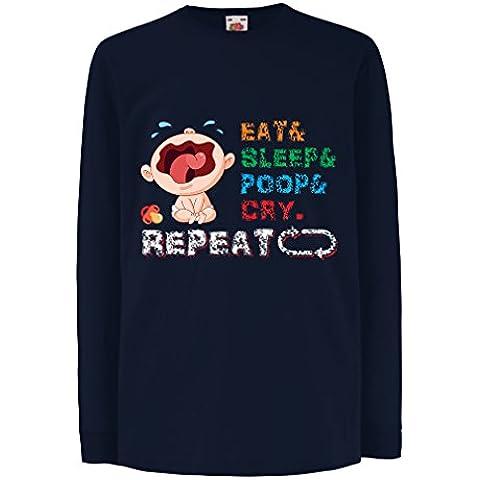 N4527D La camiseta de los niños con mangas largas Baby in My hose