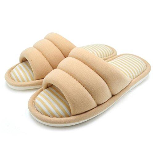 Coton Femme Mhgao Simplicity Toutes Les Pantoufles De Maison D'intérieur De Saisons Pantoufles Douces De Coton 2