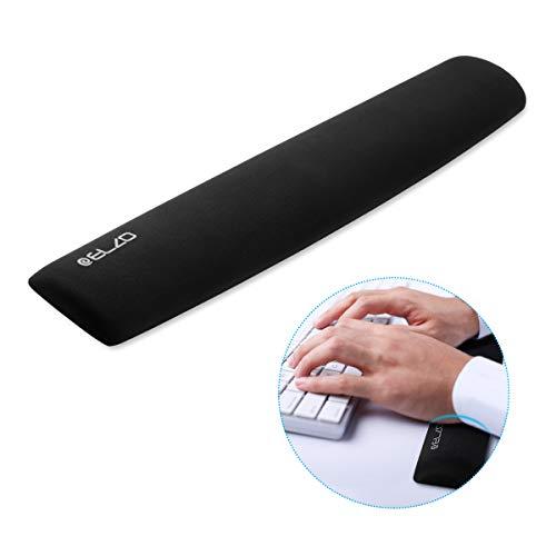 ELZO Ergonomische Gel Handballenauflage, Ergonomic Wrist Pad Rutschfeste und Anti-Sehnenscheidenprobleme für PC Computer und Laptop - Schwarz (1 × für Tastatur)
