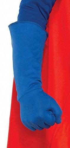 shoperama Accessoires für Superhero Herren Kostüm, Armstulpen Blau (Blau Batman Kostüme)