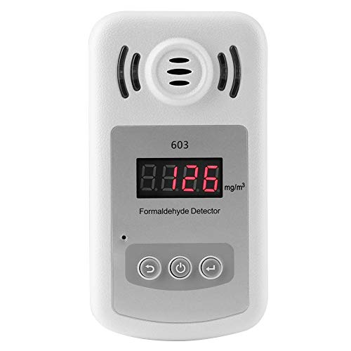 Innen Formaldehyd Gas Detektor, 603 Weiße Digital Anzeige Gas Leck Alarm für Haushalt und Industrie 0 ~ + 50 ℃ Explosive Gas-alarm