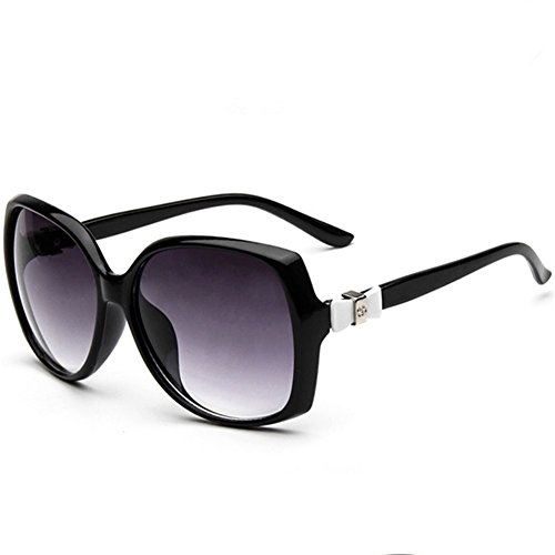 Z-P New Fashion Elegant For Women Reflective UV400 Big Frame Bow Sunglasses 58MM