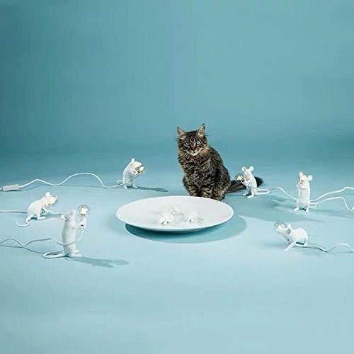 Liegende Wohnzimmer (WUWUKAI Nachttischlampe Mini Tier Maus Lampe Wohnzimmer Esszimmer Schlafzimmer Bekleidungsgeschäft Nachttisch, liegend)