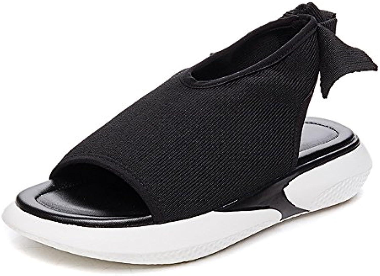 MeiMei Sandalias Deportivo Femenino Una Base Plana Y Versátil De Pino Ocio Zapatos Pastel