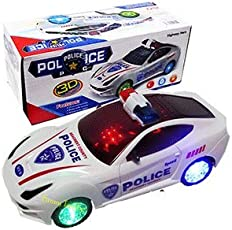 Funny Teddy Kids Bump and Go 3D Lights Police Car with Sound and Wheels with Light (Qvwet34V3W4Rtswetvbyutu8N76W45R3B3)