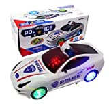#5: Funny Teddy Bump & Go 3D Lights Police Car with Sound | Toy for Kids Gift | Opening Door , wheels with Light