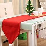 Enfei Lindo Mantel de Navidad, decoración de Sombrero de Mesa, decoración no Tejida, Adornos de la Bandera de la Mesa