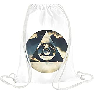 Illuminati Hipster Triangle Drawstring bag