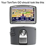 Genuine TomTom Alternative Long Window Mount + TomTom Adhesive Dash Disc for TomTom GO 520/530/630/720/730/920/930 including traffic/business models (square type fitting)