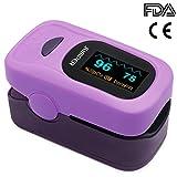 Jumper Finger Pulsossimetro 500A Meter Pulse Portable - SpO2 (Saturazione di Ossigeno nel Sangue) e Monitor di Frequenza Cardiaca - Con Display Digitale OLED, CE & Approvato Dalla FDA
