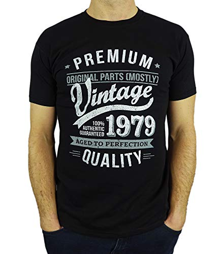1979 Vintage Year - Aged To Perfection - 40 Geburtstag geschenk T-Shirt für Männer Schwarz L