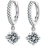 Shining Diva Latest 18k Gold Platinum Plated Austrian Crystal Bali Earrings for Girls and Women