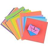 Xinlie Colorati Carta Set di Carta Artigianale Carta Tagliata Tinta Set Carta Assortimento Carta Bifacciale 15 x 15 cm per Carta Natalizia Progetti di Arti e Mestieri Fai da te, 8 Colori (120 Fogli)