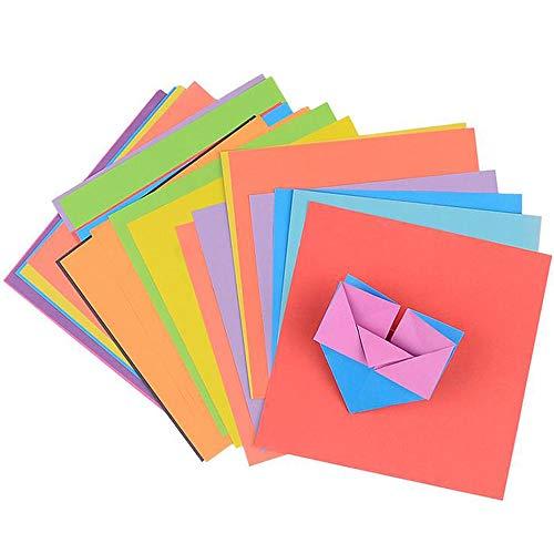 Xinlie Origami Papier Set Bastelpapier geschnittene Färbige Bastelpapier Set Origamipapier Sortiment 15 x 15 cm für Weihnachts-Origami Papier DIY Kunst und Handwerk Projekte,8 Farben(120 Blatt)